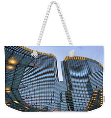 Weekender Tote Bag featuring the photograph City Center Las Vegas by Glenn DiPaola
