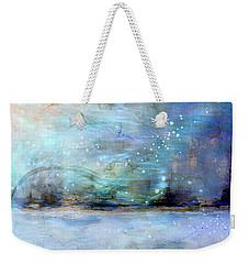 Weekender Tote Bag featuring the digital art City Dream by Linda Sannuti