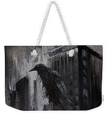 City Dweller Raven Dark Gothic Crow Wall Art Weekender Tote Bag