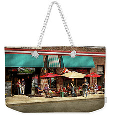 Weekender Tote Bag featuring the photograph City - Edison Nj - Pino's Basket Shop by Mike Savad