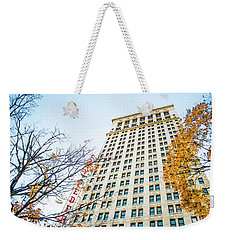 Weekender Tote Bag featuring the photograph City Federal Building In Autumn - Birmingham, Alabama by Shelby Young