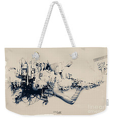 Weekender Tote Bag featuring the photograph City Girl Dreaming by Chris Armytage