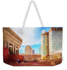 City Hall At Government Center Weekender Tote Bag