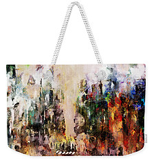 Weekender Tote Bag featuring the photograph City Life by Claire Bull