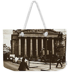 Weekender Tote Bag featuring the photograph City Life On London Streets by Jacek Wojnarowski
