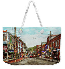 Weekender Tote Bag featuring the photograph City - Ma Glouster - A Little Bit Of Everything 1910 by Mike Savad