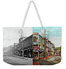 Weekender Tote Bag featuring the photograph City - Ma Glouster - A Little Bit Of Everything 1910 - Side By Side by Mike Savad
