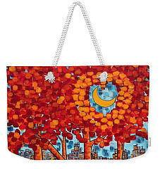 City Moonshine Weekender Tote Bag by Holly Carmichael
