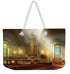 Weekender Tote Bag featuring the photograph City - Naval Academy - The Chapel by Mike Savad
