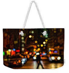 City Nights, City Lights Weekender Tote Bag