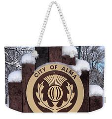 City Of Alma Michigan Snow Weekender Tote Bag