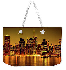 Weekender Tote Bag featuring the photograph City Of Gold by Chris Lord