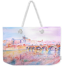 City Of Prague Weekender Tote Bag by Elizabeth Lock