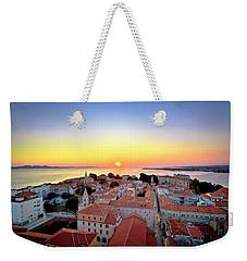 City Of Zadar Skyline Sunset View Weekender Tote Bag