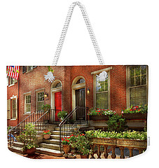 Weekender Tote Bag featuring the photograph City - Pa Philadelphia - Pretty Philadelphia by Mike Savad