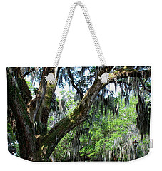 Weekender Tote Bag featuring the photograph City Park Oaks by Beth Vincent