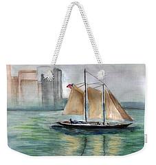 City Sail Weekender Tote Bag by Clara Sue Beym