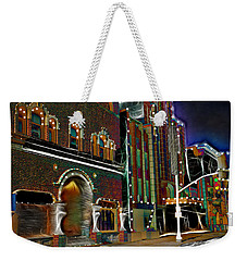 Weekender Tote Bag featuring the photograph City Scene by EricaMaxine  Price