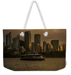 Weekender Tote Bag featuring the photograph City Skyline  by Andrew Matwijec