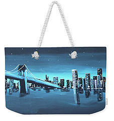 City Skyline Weekender Tote Bag by Cyrionna The Cyerial Artist