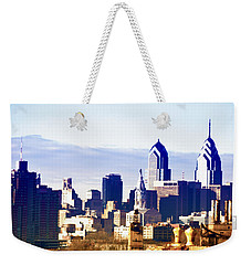 City Skyline Philadelphia Weekender Tote Bag by Bill Cannon