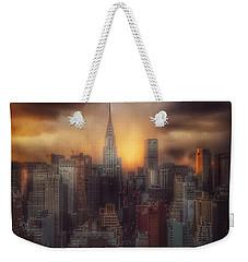 City Splendor - Sunset In New York Weekender Tote Bag by Miriam Danar