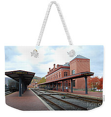 Weekender Tote Bag featuring the photograph City Station by Eric Liller
