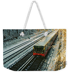 City Train In Berlin Under The Snow Weekender Tote Bag
