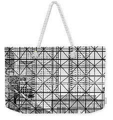 City Windows Abstract Black And White Weekender Tote Bag by Marianne Campolongo