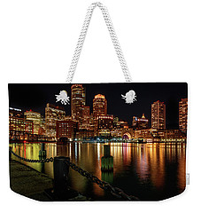 City With A Soul- Boston Harbor Weekender Tote Bag