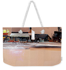 Weekender Tote Bag featuring the painting Cityscape 3 by Anil Nene