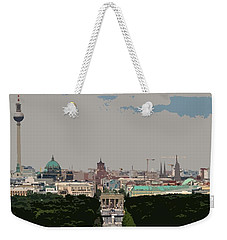 Cityscape Of Berlin - Painting Effect Weekender Tote Bag