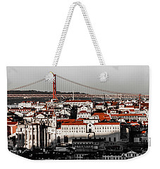 Lisbon In Black, White And Red Weekender Tote Bag