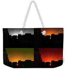 Cityscape Sunset Weekender Tote Bag