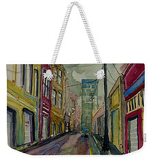 Cityscape Urbanscape Asheville Alley Weekender Tote Bag