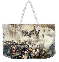 Civil War Naval Battle Weekender Tote Bag
