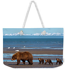 Weekender Tote Bag featuring the photograph Clamming Trip by Aaron Whittemore