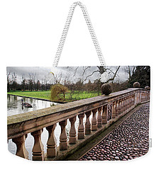 Weekender Tote Bag featuring the photograph Clare College Bridge Cambridge by Gill Billington