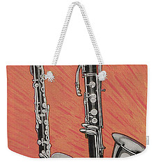 Clarinet And Giant Boehm Bass Weekender Tote Bag