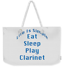 Clarinet Eat Sleep Play Clarinet 5512.02 Weekender Tote Bag