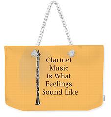 Clarinet Is What Feelings Sound Like 5574.02 Weekender Tote Bag