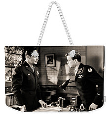Weekender Tote Bag featuring the photograph Clark Gable Appearing In Command Decision by R Muirhead Art