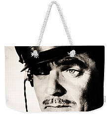 Weekender Tote Bag featuring the photograph Clark Gable Hollywood Sex Symbol In The Movie Command Decision by R Muirhead Art