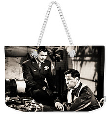 Weekender Tote Bag featuring the photograph Clark Gable Hollywood Heart Throb In The Movie Command Decision by R Muirhead Art