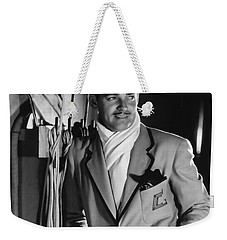 Weekender Tote Bag featuring the photograph Clark Gable Hollywood Movie Idol  by R Muirhead Art
