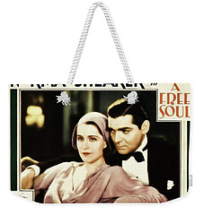 Weekender Tote Bag featuring the photograph Clark Gable Movie Idol In A Free Soul by R Muirhead Art