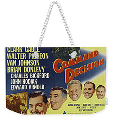 Weekender Tote Bag featuring the photograph Clark Gable Movie Poster Command Decision by R Muirhead Art