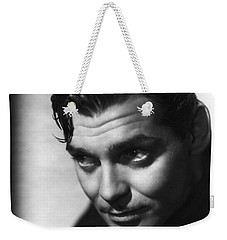 Weekender Tote Bag featuring the photograph Clark Gable by R Muirhead Art