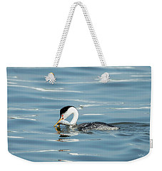 Weekender Tote Bag featuring the photograph Clarks Grebe by Everet Regal