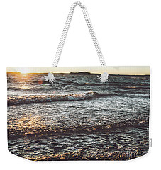 Weekender Tote Bag featuring the photograph Clarks Hill Lake by Andrea Anderegg